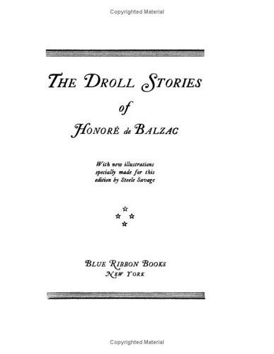 Download The Droll Stories Of Honore De Balzac