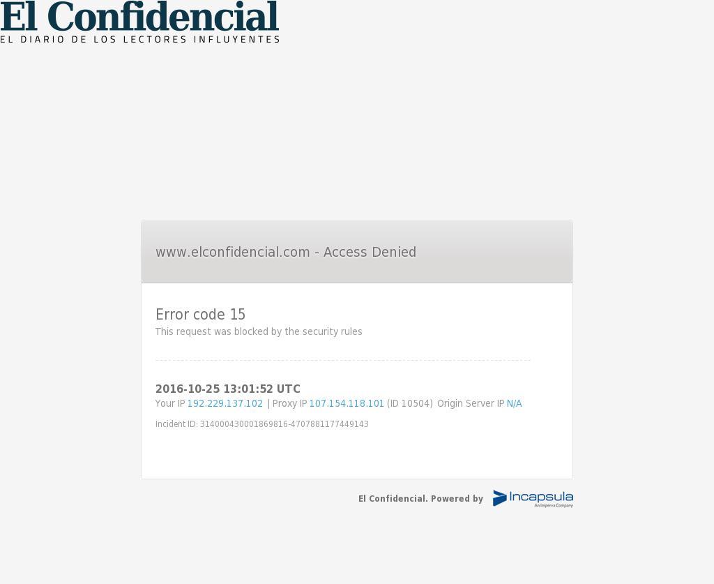El Confidencial at Tuesday Oct. 25, 2016, 1:03 p.m. UTC