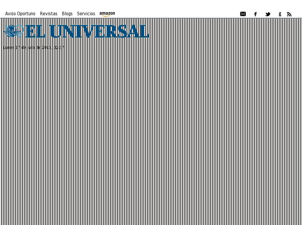 El Universal at Monday July 17, 2017, 7:38 a.m. UTC