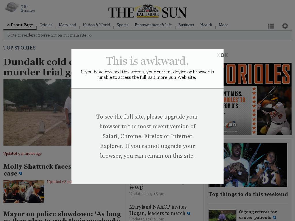 The Baltimore Sun at Wednesday June 17, 2015, 11 p.m. UTC