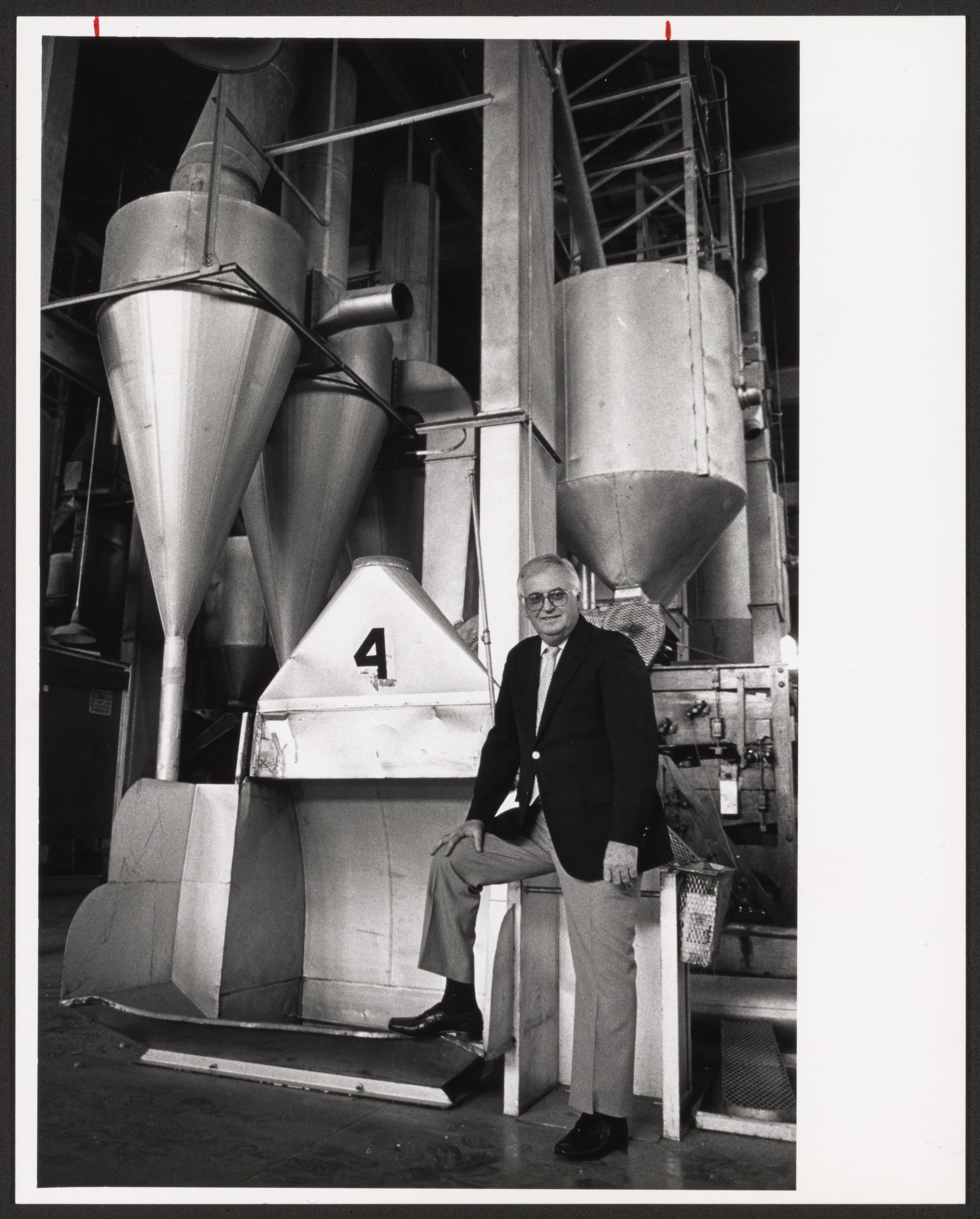 Man in factory, 1985.