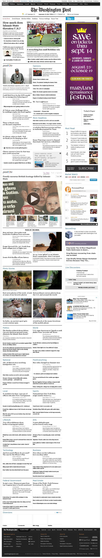 The Washington Post at Monday Sept. 15, 2014, 1:22 a.m. UTC