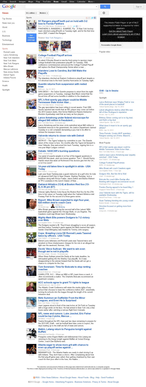 Google News: Sports at Wednesday April 24, 2013, 3:10 a.m. UTC