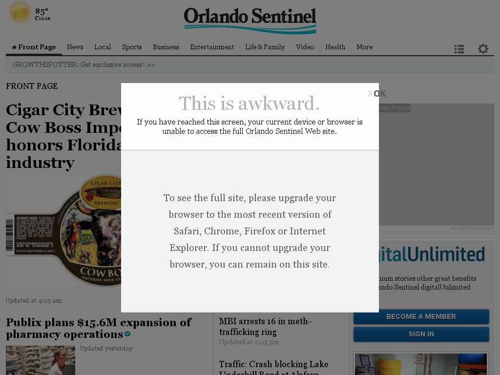 Orlando Sentinel at Wednesday June 17, 2015, 2:20 p.m. UTC