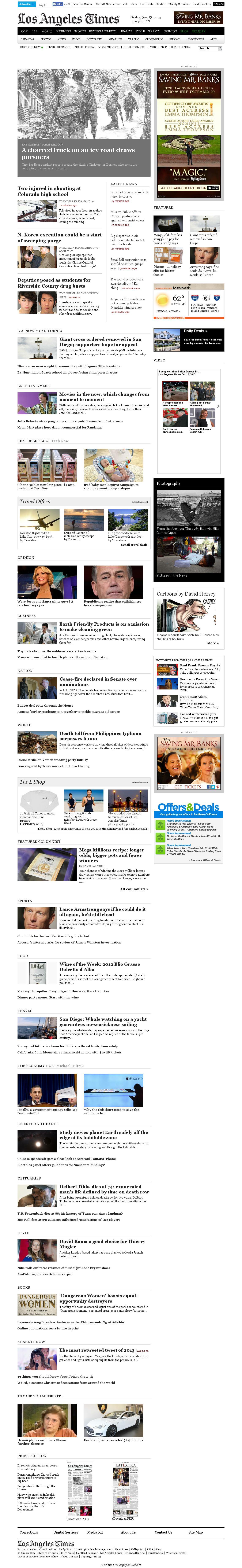 Los Angeles Times at Friday Dec. 13, 2013, 9:08 p.m. UTC
