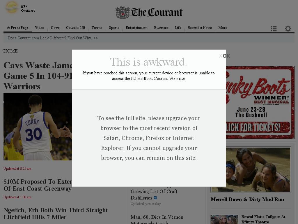Hartford Courant at Monday June 15, 2015, 9:08 a.m. UTC