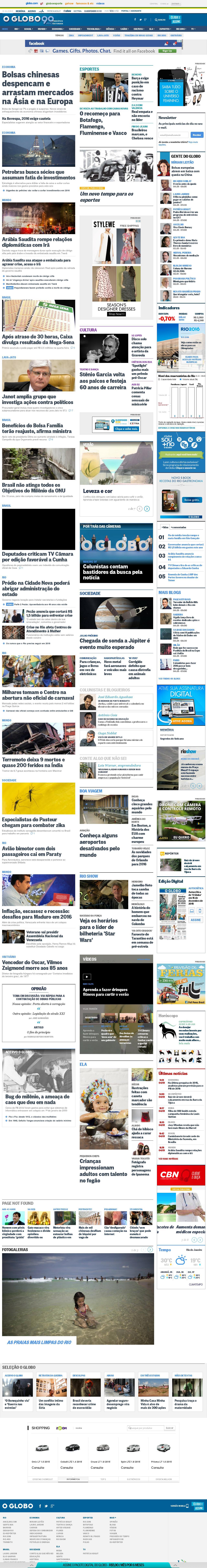 O Globo at Monday Jan. 4, 2016, 11:09 a.m. UTC