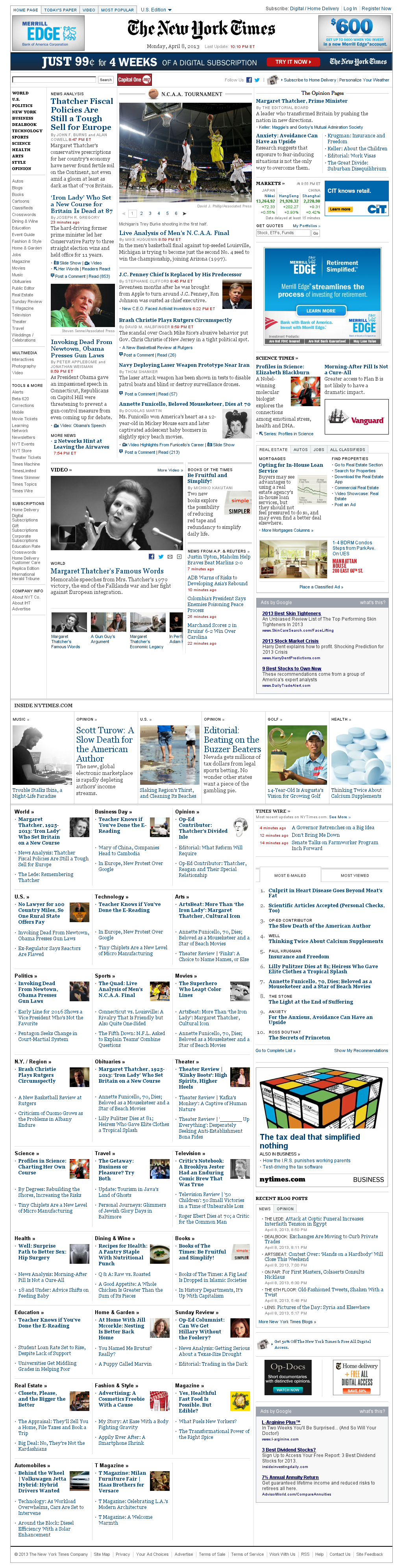 The New York Times at Tuesday April 9, 2013, 2:16 a.m. UTC