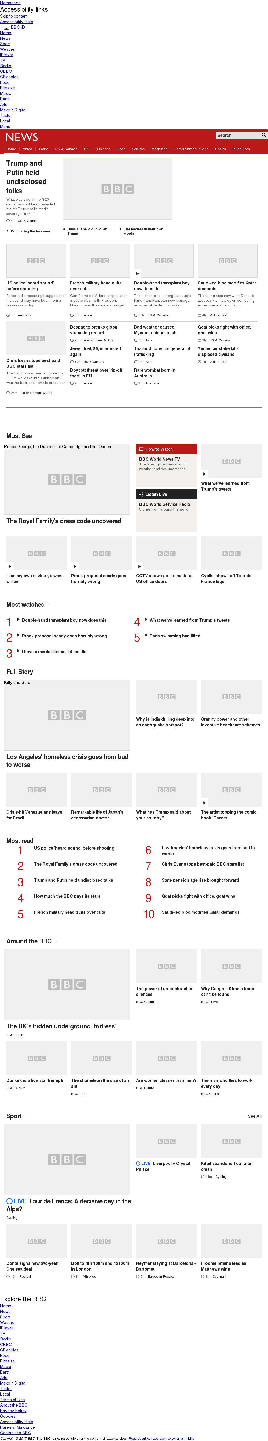 BBC at Wednesday July 19, 2017, 2 p.m. UTC