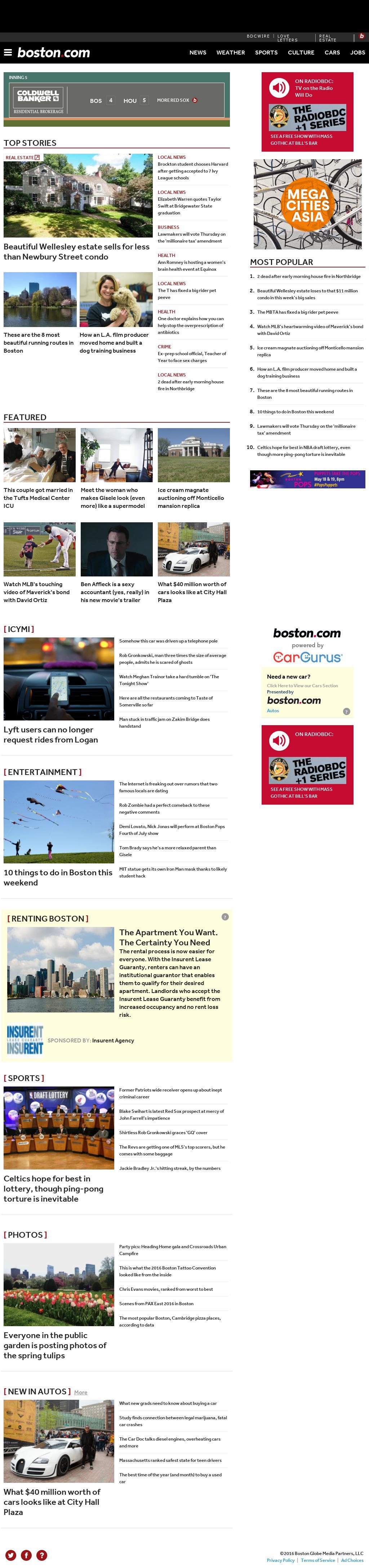 Boston.com at Saturday May 14, 2016, 7:01 p.m. UTC