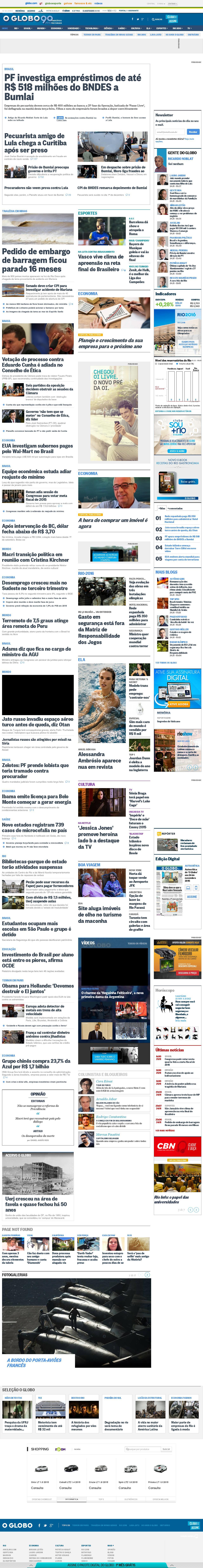 O Globo at Wednesday Nov. 25, 2015, 2:08 a.m. UTC