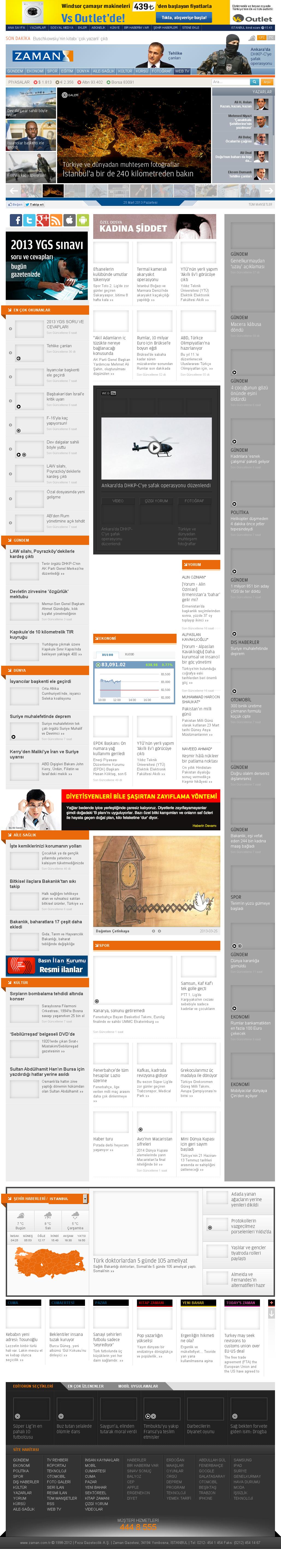 Zaman Online at Monday March 25, 2013, 11:52 a.m. UTC
