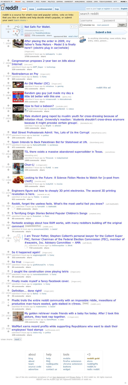 Reddit at Wednesday Nov. 28, 2012, 5:27 p.m. UTC