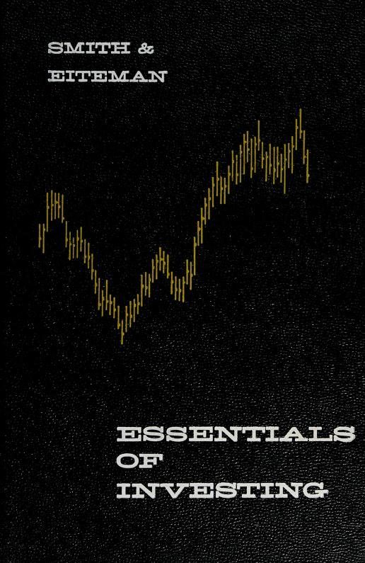 Essentials of investing by Keith V. Smith