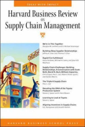 Harvard Business Review on Supply Chain Management by Harvard Business Sch
